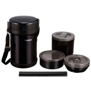 ZOJIRUSHI象印 SL-XE20-AD不锈钢保温便当盒 黑色 2L
