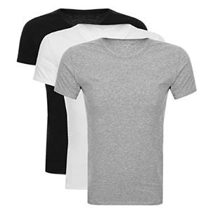 Tommy Hilfiger 纯棉圆领经典基础T恤短袖 3件装