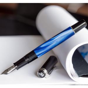 Pelikan百利金 M205 大理石纹钢笔 F尖