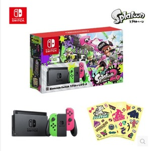 Nintendo任天堂Switch 喷射战士2同捆 限定主机预售