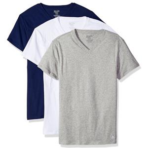 Original Penguin企鹅牌 男士纯棉修身V领T恤3件套
