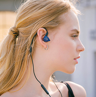 Audio-technica铁三角 ATH-LS50iS 双动圈带线控入耳式耳机