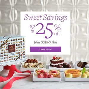 Godiva精选巧克力礼盒低至7.5折促销