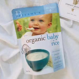 补货!Bellamy's贝拉米 婴幼儿有机米粉 (4个月/6个月以上)125g