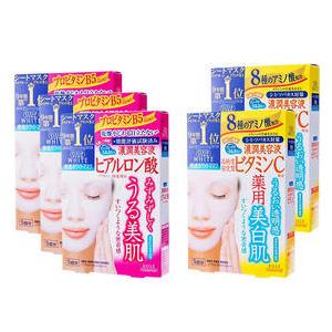 KOSE高丝 浓润玻尿酸高保湿面膜5枚 *3盒+KOSE高丝 维他命C保湿美白面膜5枚 *2盒