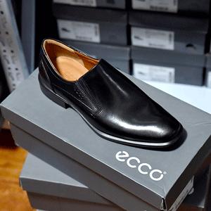 ECCO爱步 Cairo男士真皮一脚蹬皮鞋