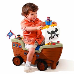 Little Tikes小泰克 海盗船游戏车/学步车
