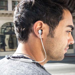 JBL TUNE205BT 半入耳式蓝牙耳机 带麦克风 金色