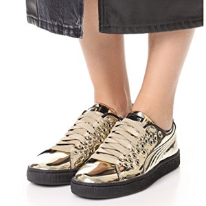PUMA彪马 Basket XL女士金属色休闲鞋
