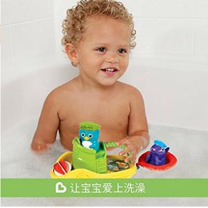 Munchkin满趣健动物小船宝宝洗澡玩具*3件