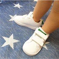 更新!Adidas阿迪达斯 VALCLEAN2小童款 魔术贴小白鞋 绿尾/粉尾