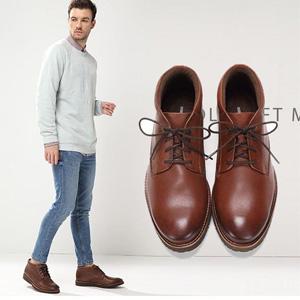 限UK7.5码!Clarks其乐 Folcroft 男款真皮短靴