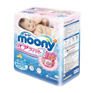 moony尤妮佳 新生儿纸尿裤 NB90片