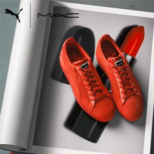 发售!PUMA X M.A.C 跨界合作 三支口红色的美鞋