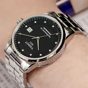 TISSOT Luxury 系列镶钻机械时装男表T086.408.11.056.00