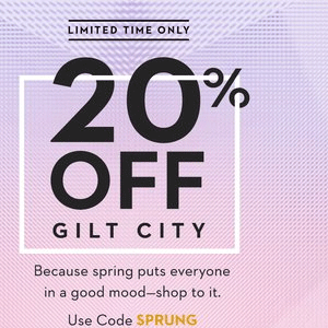 Gilt/Gilt City有全场额外8折促销