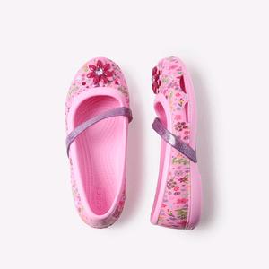 Crocs Kids Lina Graphic Flat GS 女款凉鞋
