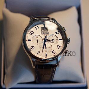 SEIKO 精工 Chronograph SPC155 男士计时时装腕表