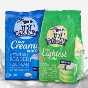 Devondale德运高钙成人奶粉老人/学生1KG 两款可选