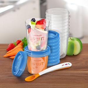 AVENT 新安怡 SCF721/20 婴儿食物储存罐 20件套装