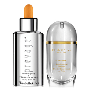 Elizabeth Arden雅顿Prevage橘灿精华+小银蛋奇肌赋活精华液套装