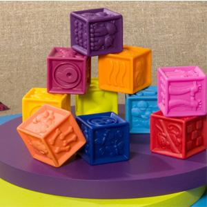 B.Toys 数字浮雕软积木玩具 牙胶