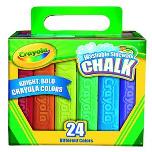 【自营断货】Crayola绘儿乐户外彩色粉笔 24色