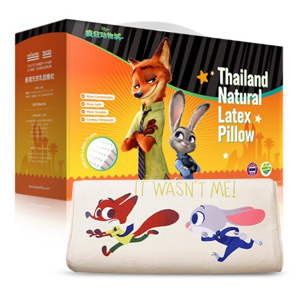 中亚TAIPATEX疯狂动物城系列乳胶枕促销 多款降至新低