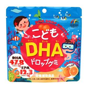 Unimatriken儿童肝油DHA橘子味果汁软糖 90粒