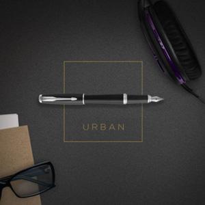 Parker派克 Urban都市系列 M尖 黑杆银夹钢笔 1931604