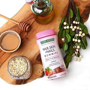 补货!Nature's Bounty自然之宝生物素软糖 草莓味 80粒