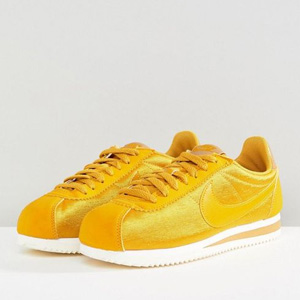 NIKE耐克 女款尼龙阿甘运动鞋 亮黄色