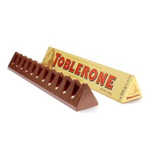 Toblerone瑞士三角 牛奶/黑巧克力含蜂蜜及巴旦木糖100g*10件