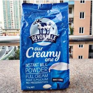 Devondale德运 全脂高钙成人奶粉 1kg*2袋装*2件