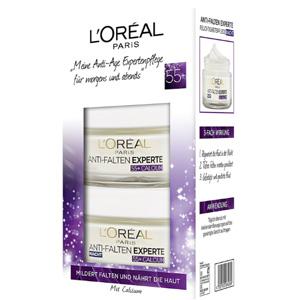 L'Oréal Paris欧莱雅 冻龄专家55+钙源 抗皱保湿日霜晚霜套装