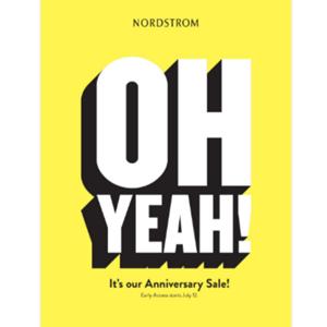 2018 Nordstrom Anniversary Sale周年庆预热海报出炉