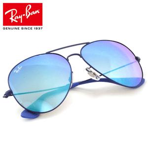 RAY BAN雷朋 RB3558 金属蓝色中性款时尚太阳眼镜