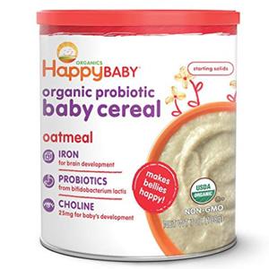 HappyBaby禧贝 有机燕麦谷物米粉 2段 198g*6罐