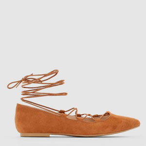 R edition 绑带芭蕾尖头鞋