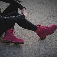 Timberland天木兰 6 Inch Classic 大童款踝靴 玫瑰红