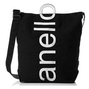 Anello 大logo设计棉质帆布两用单肩手提包 AU-S0061 多色可选