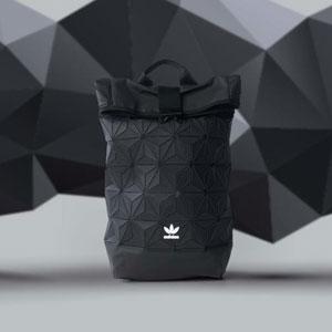 新低!Adidas阿迪达斯 3D ROLL TOP 三宅一生菱形格子双肩包
