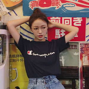 Champion冠军 经典logo 中性款短袖T恤衫