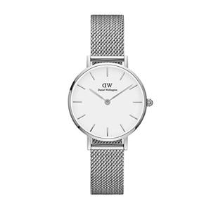 DW女士银色超薄不锈钢表带腕表 DW00100220