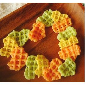 calbee卡乐比 蔬菜心形薯片饼干 宝宝儿童零食 4连包