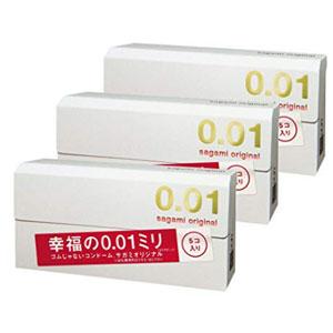 Sagami Original 相模原创001超薄避孕套/安全套 5只*3盒