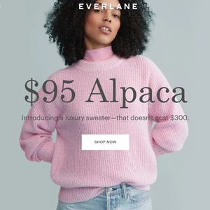Everlane网站现有精选多色毛衣一律$95促销