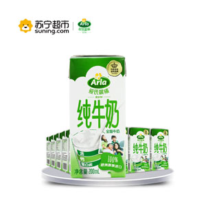 爱氏晨曦 全脂纯牛奶200ml*24盒 *2件