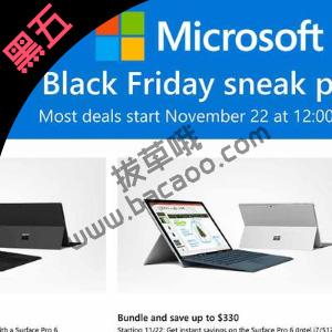 Microsoft Store 2019 Black Friday黑五促销海报出炉
