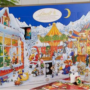 Lindt瑞士莲圣诞节倒数日历巧克力7.5折促销
